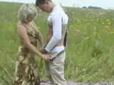 Mature Slut Fuck Younger Guy In The Open Field