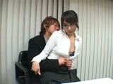 Japanese Secretary Fucking Her Boss In His Office