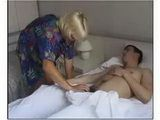 Mature Stepmother Waking Her Sleepy Stepson With Blowjob