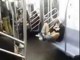 Shameless Slut Masturbate In Full Train Of People