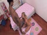 Small Titted Blonde With Pigtails Gets Deep Anal Trashed By Black Shaft