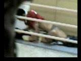 Real Arab Schoolgirl Caught Fucking On A Stairway